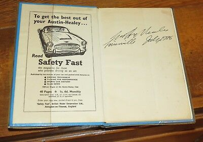 Autographed Austin Healey Drivers Manual 3000 Mark III Signed by Geoff Healey