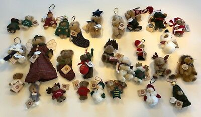 Boyds Bears Christmas ornament collection LNWT