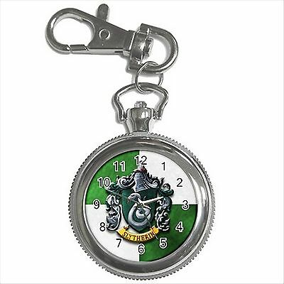 NEW HARRY POTTER SLYTHERIN HOGWARTS SCHOOL Key Chain Ring Watch Gift D03