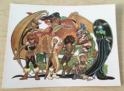 "1995 RARE ELFQUEST Promotional ""Postcards From The Two-Edge"" Series 1 MINT COND"