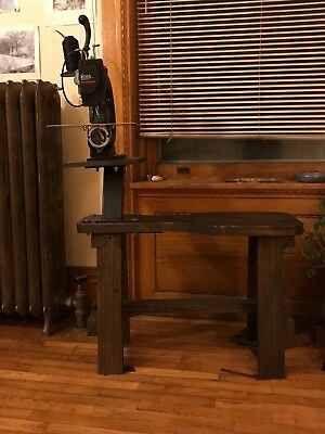 Tippmann Boss Sewing Machine, wooden cobbler bench and flatbed attachment.