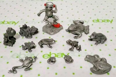 Pewter Frog Collection Lot ~ Hudson, Rawcliffe, Spoontiques, C.H, RC, WL Pewter