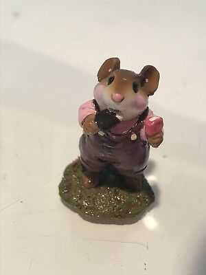 """Wee Forest Folk, """"Double Delight"""" Pink Shirt, Plum Overalls"""