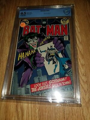 Batman 251  CBCS not CGC classic cover and splash pages Neal Adams Sep 1973 DC