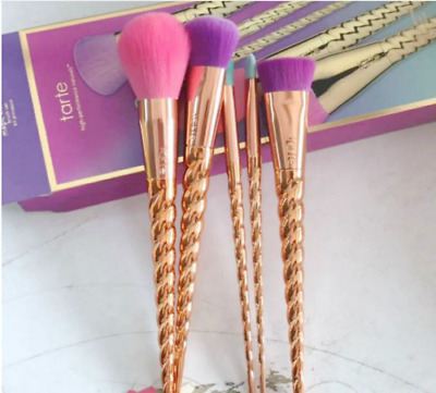 New 5pc Limited Edition Tarte Make Believe In Yourself Magic Makeup Brush Set