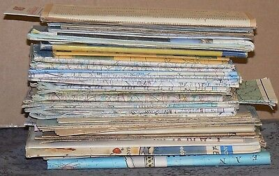 50 Distressed Maps, National Geographic Maps, Road Maps, Etc. for Art