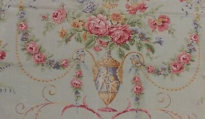 "Vintage figural French print tablecloth 56""×52"""