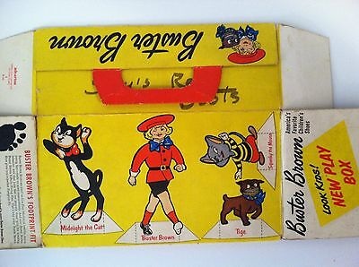 Vintage 1946 Buster Brown Shoe Box - Tige/Froggie/Midnight Cat/Squeeky Mouse