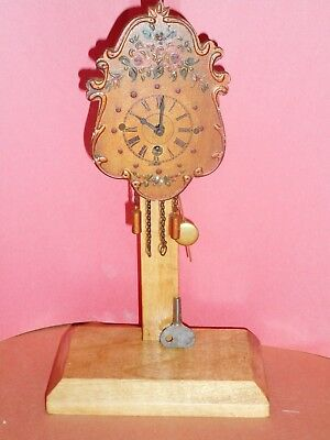 Nice SMALL FANCY GERMAN NOVELTY CLOCK marked Triberg, Germany, made in Germany