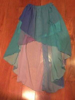 Dance Skirt Blues And Purples Short In The Front Long In Back Adult Medium