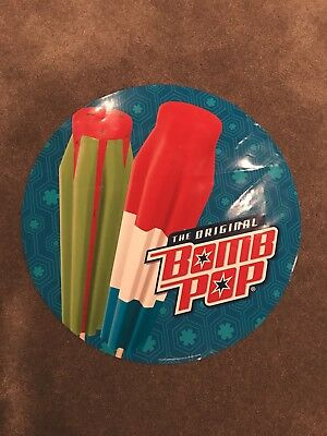"ORIGINAL BOMB POP & Watermelon Ice Cream Truck Decal Sticker 23"" ROUND Ad RARE"