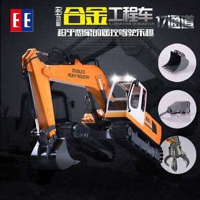 R/C Radio Control Excavator Digger Engineer vehicle Grab Bucket Crane Drill Rig
