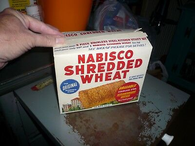 VINTAGE 1930`s  NABISCO SHREDDED WHEAT CEREAL BOX.......Orig.