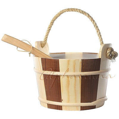 Free Shipping 1 Gallon Finnish Type  Sauna Bucket and ladle For sales
