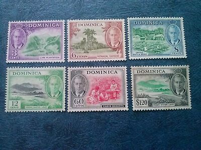 Dominica Stamps 1951 3c-$1.20 KGVI (SG124-133) MINT