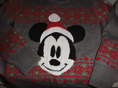 Disney Store - Toddler Christmas Mickey Sweater - size 2