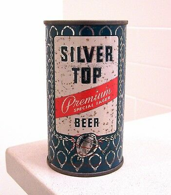 **c. 1950s SILVER TOP BO indoor flat top can from Pittsburgh, PA