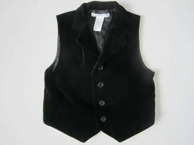 EUC Janie and Jack DAPPER YOUNG GENT 3 Holiday Velveteen Vest