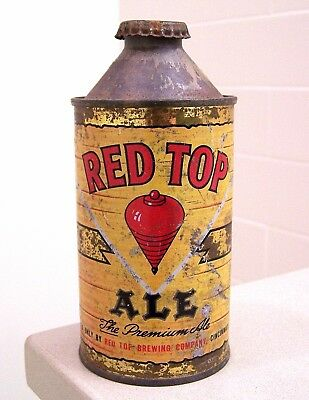 **tough c. 1940s RED TOP Ale IRTP HP cone top from Cincinnati, OH