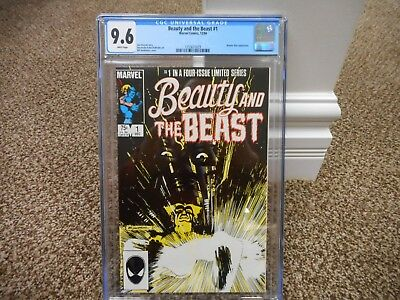Beauty and the Beast 1 cgc 9.6 Dazzler X-Men Avengers 1984 Marvel WHITE pages