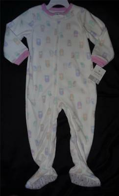 Carter's Baby Girls Sleeper Pajamas 18 & 24 Months OWLS~SOFT Flame Resistant NWT