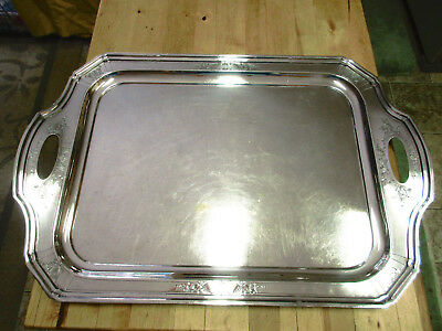 """Vintage Reed & Barton SilverPlate Tray BUTLER TRAY HUGE #40C * 26"""" X 18"""""""