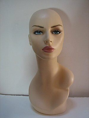 Hat Mannequin, Lady Head Display Model, Hats, Millinery, Wigs #2