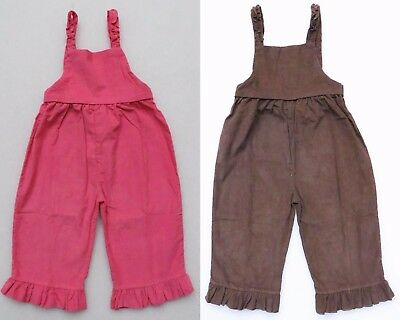 Beehave Toddler Girl's Corduroy Ruffled Overalls Longalls New Choice