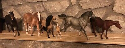 Lot of 5 Breyer Horses Variety of Sizes and Styles and 1 Tractor Supply horse