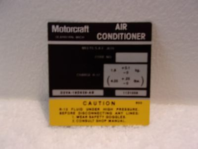 1972 - `1974 Lincoln Motor Craft Air Conditioner Compressor Decal Mercury Ford