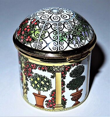 Staffordshire Enamels Box - Domed Garden Gazebo - Potted Plants & Flowers