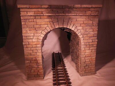 Tunnel Portal Christmas set up G scale