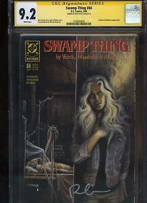 Swamp Thing #84 CGC 9.2 SS Rick Veitch 1989 early SANDMAN appearance