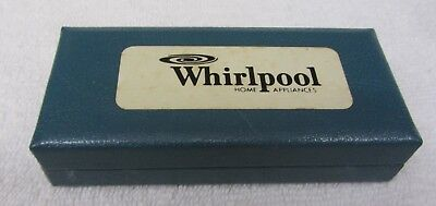NEW Vintage WHIRLPOOL BUTTON COVERS 4 Hatched Brushed Silver in BOX Pin NOS NIB