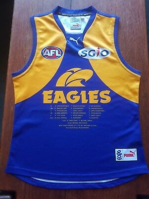 WEST COAST EAGLES 1992 PREMIERS 25th ANNIVERSARY GUERNSEY JUMPER MENS LARGE VGUC