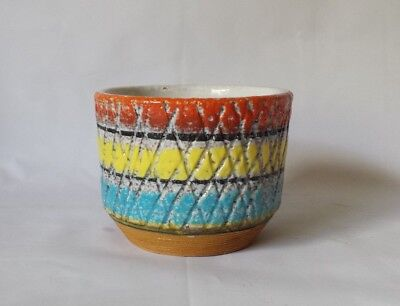 "Vintage Italian Art Pottery Small Glazed Pot 3""  VGC"