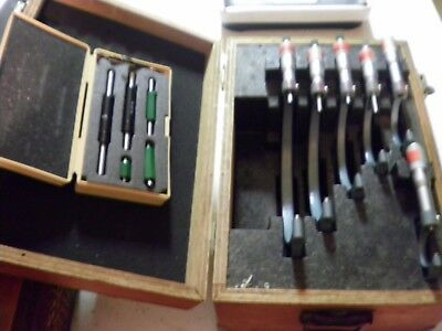 "Mitutoyo  1 to 6"" .0001 Outside Micrometer Set 103-907 with Standards"
