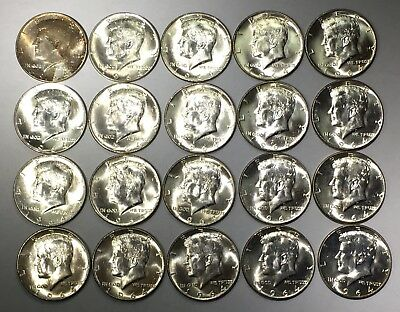 1 Roll (20) 1964 Kennedy Half Dollars - BU Uncirculated ~ 90% Silver Coin Lot #3