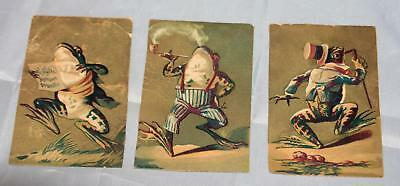 Antique Victorian Advertising Trade Card Lot FROGS Anthropomorphic Day's Soap