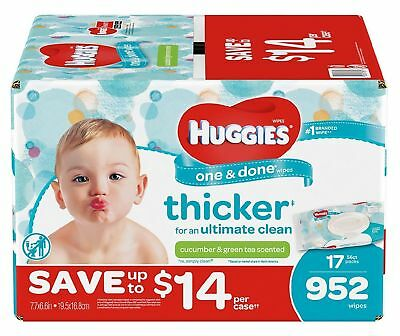 Huggies One & Done Baby Wipes 952 Ct Phenoxyethanol Free and MIT Free - New