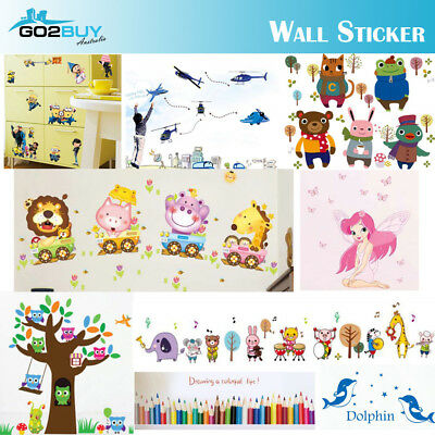 DIY Wall Stickers Kids Removable Vinyl Decal Mural Home Decor Nursery School