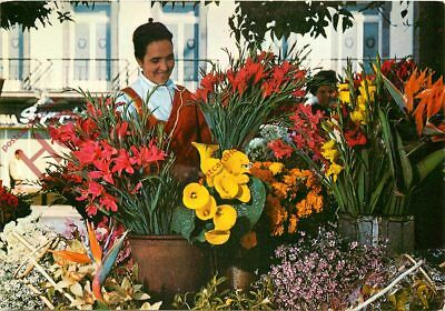 Picture Postcard::Madeira, Funchal - Selling Flowers
