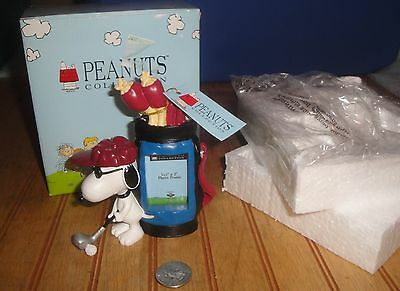 Westland Peanuts Snoopy Playing Golf Picture Frame Figurine MIB Boxed