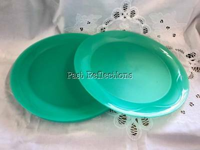 Tupperware Open House Toucan Teal Green Dinner Plate Set Of Four