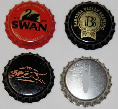 Collectible Group Of 4 Uncrimped Australian Bottle Caps/tops Group 19 - New