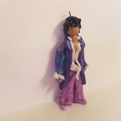 PRINCE LITTLE RED CORVETTE CHRISTMAS ORNAMENT Hand Made Polymer Clay OOAK