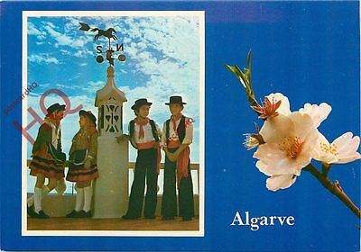 Picture Postcard-:Algarve, Flower And Traditional Dress
