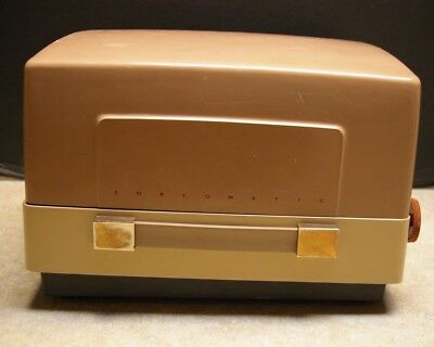Vintage Anscomatic J-276 Slide Projector With Case And Cables - Tested And Works