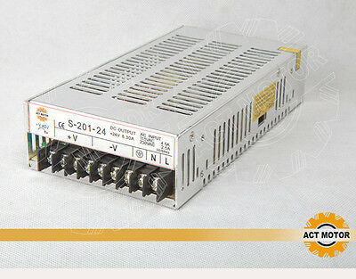 ACT MOTOR CNC Router ACT Single Output Power Supply 200W 24V for stepper motor