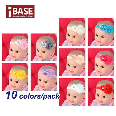 10pcs/set Headband Flower Baby Toddler Girl Kid Infant Hair Bow Band Accessories